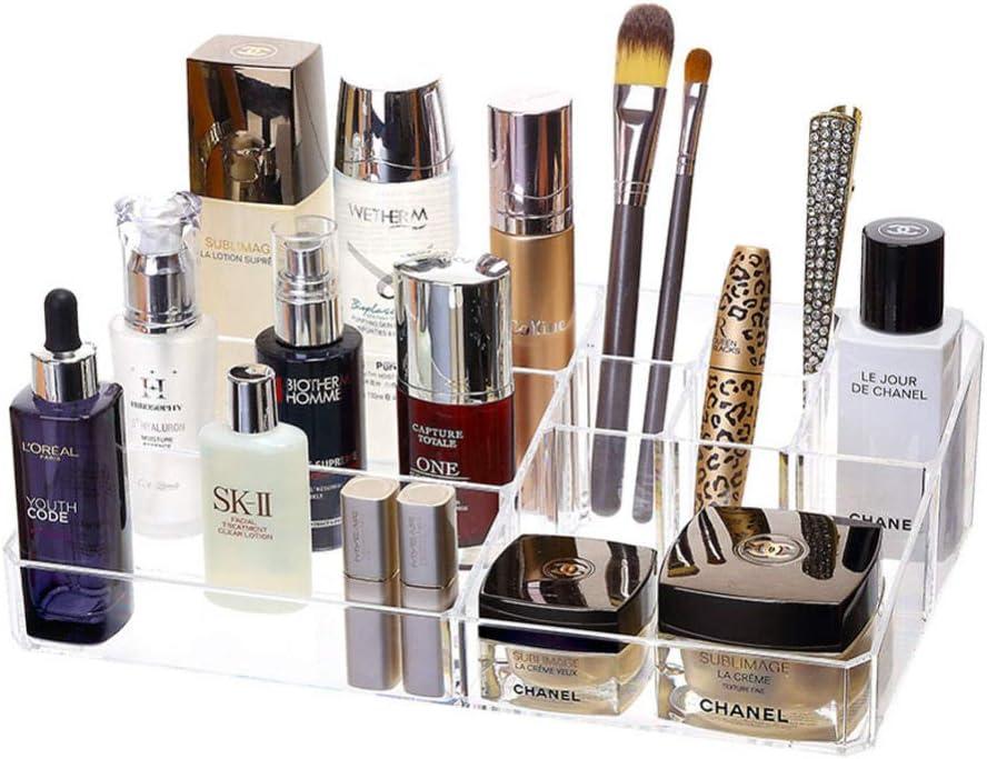 Organizador para cosméticos, acrílico, pañales de Maquillaje, Organizador Ajustable, Organizador de Maquillaje, cajón Utilizado para el Pincel de Labios, Producto de Cuidado de la Piel: Amazon.es: Equipaje