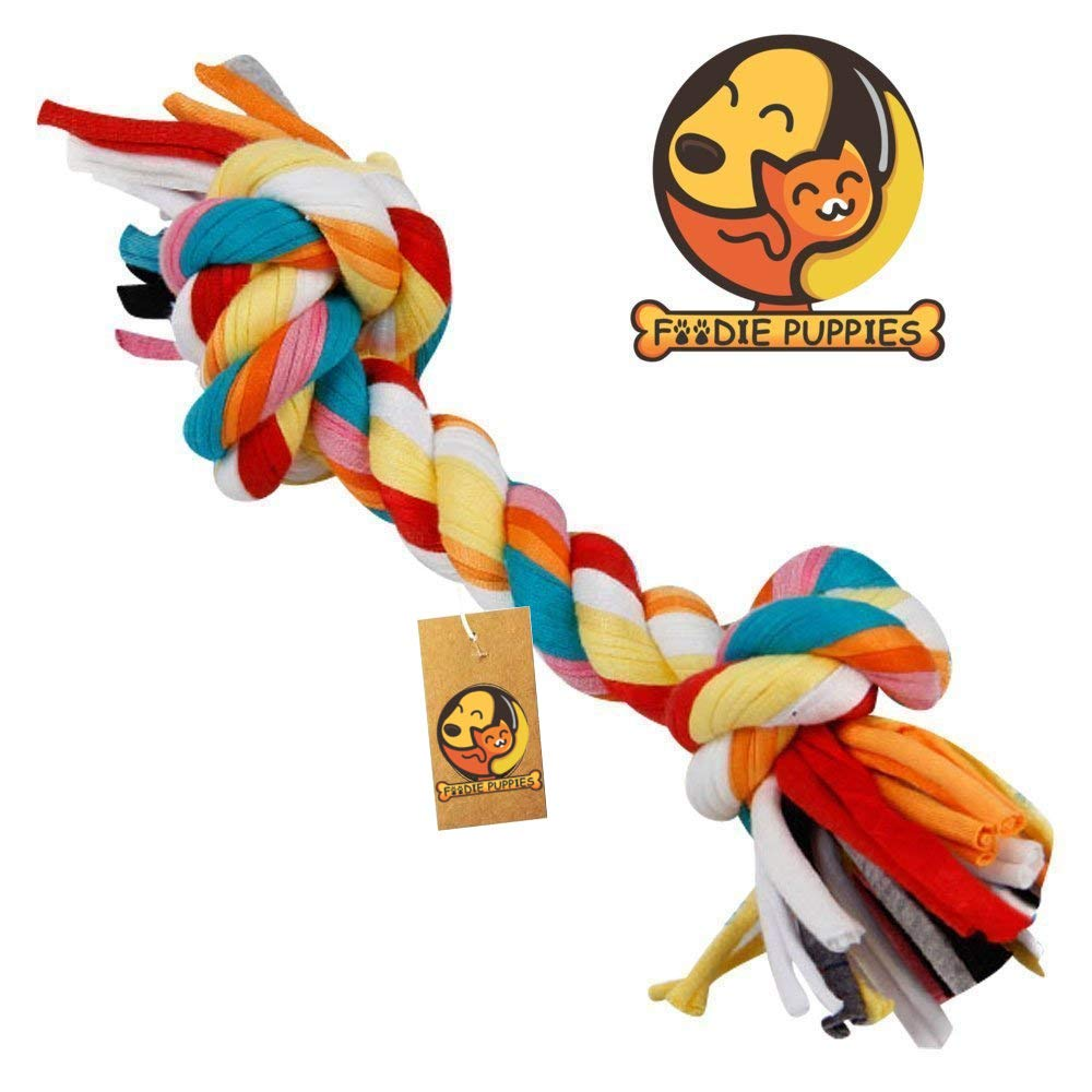 Foodie Puppies Cotton Dog Chew Rope Toy for Small to Medium Dogs