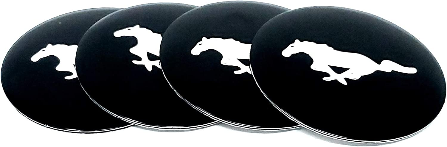 56MM BLACK CHROME For fiesta st rs focus mustang gt Emblem Badge Stickers Decals with Strong 3M Includes instructions MEASURE Before Purchase Fitment Top Quality fit pack of 4 AMDCO