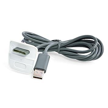 Neuftech USB Cable Cargador para Xbox 360 Controlador inalámbrico -Gris