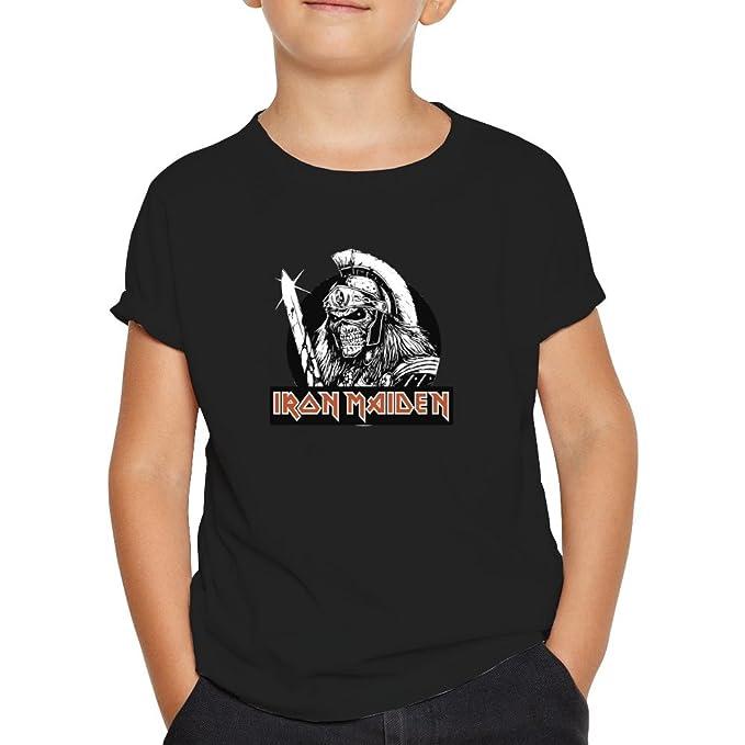 OKAPY Camiseta Iron Maiden. Una Camiseta de Hombre con un Esqueleto Guerrero de Iron Maiden. Camiseta Friki de Color Negra wsffLspkQF