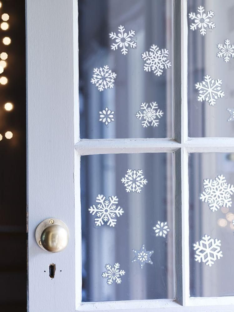 Christmas Snowflake Window Sticker Decorations Xmas Window - Snowflake window stickers amazon