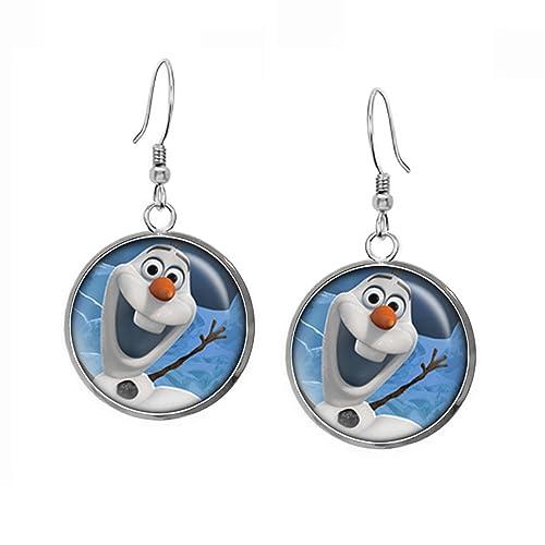 Amazon.com: Disney's Frozen Olaf Earrings, Elsa Pendant Necklace, Anna Earrings, Princess Elsa Jewelry, Sven Kristoff Geek Geeky Gift, Arendelle Bridesmaid ...