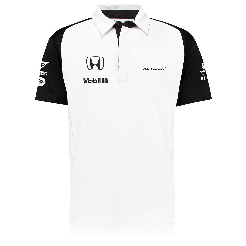 Sin marca Polo Mclaren Honda Blanco 2015: Amazon.es: Deportes y ...
