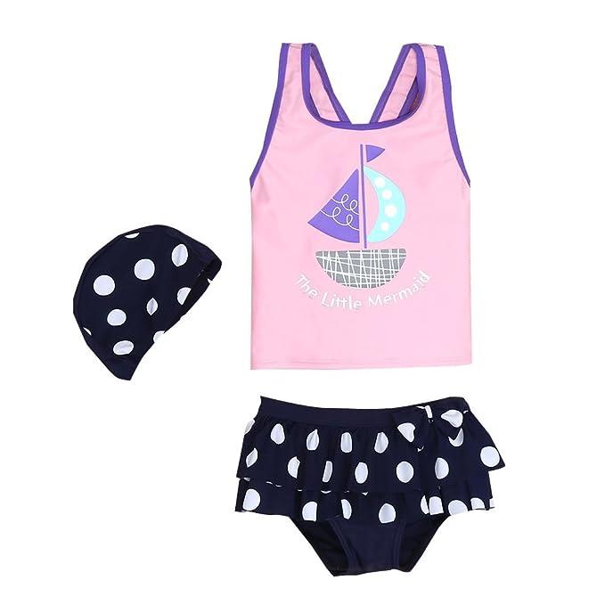 499301ace1 Amazon.com: Vivo-biniya Kid Swimsuits Girls Two-Piece Swimsuits Upf50+  Sailing Swimsuits 3-7t: Clothing