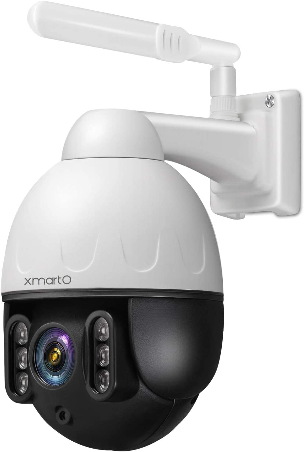 [Floodlight PTZ CAM] XMARTO Security Camera Outdoor, 1080p WiFi PTZ Wireless Camera for Home Security, Pan Tilt Zoom, 2-Way Audio, Motion Detection Alert & Siren, IP66, (Add-on to NVR or standalone)