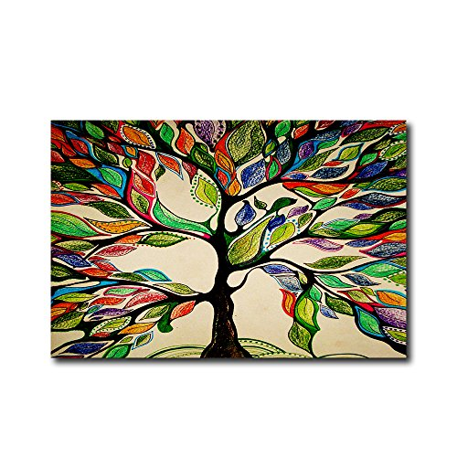 Colorful Tree of Life Gorgeous Like Feather Doormats Entranc
