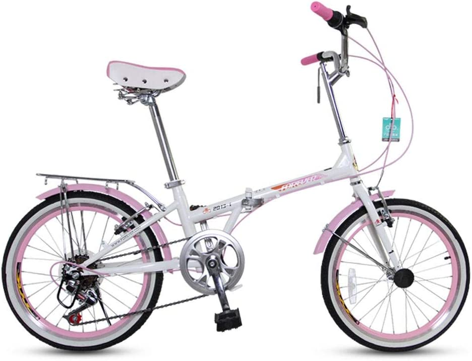 DCC Masculino Y Femenino Al Aire Libre Bicicletas Plegables Bicicletas Hombres Y Mujeres Adultos Portátil Shift Pequeña Bicicleta 20 Pulgadas Ultra-Ligero De Velocidad Ajustable