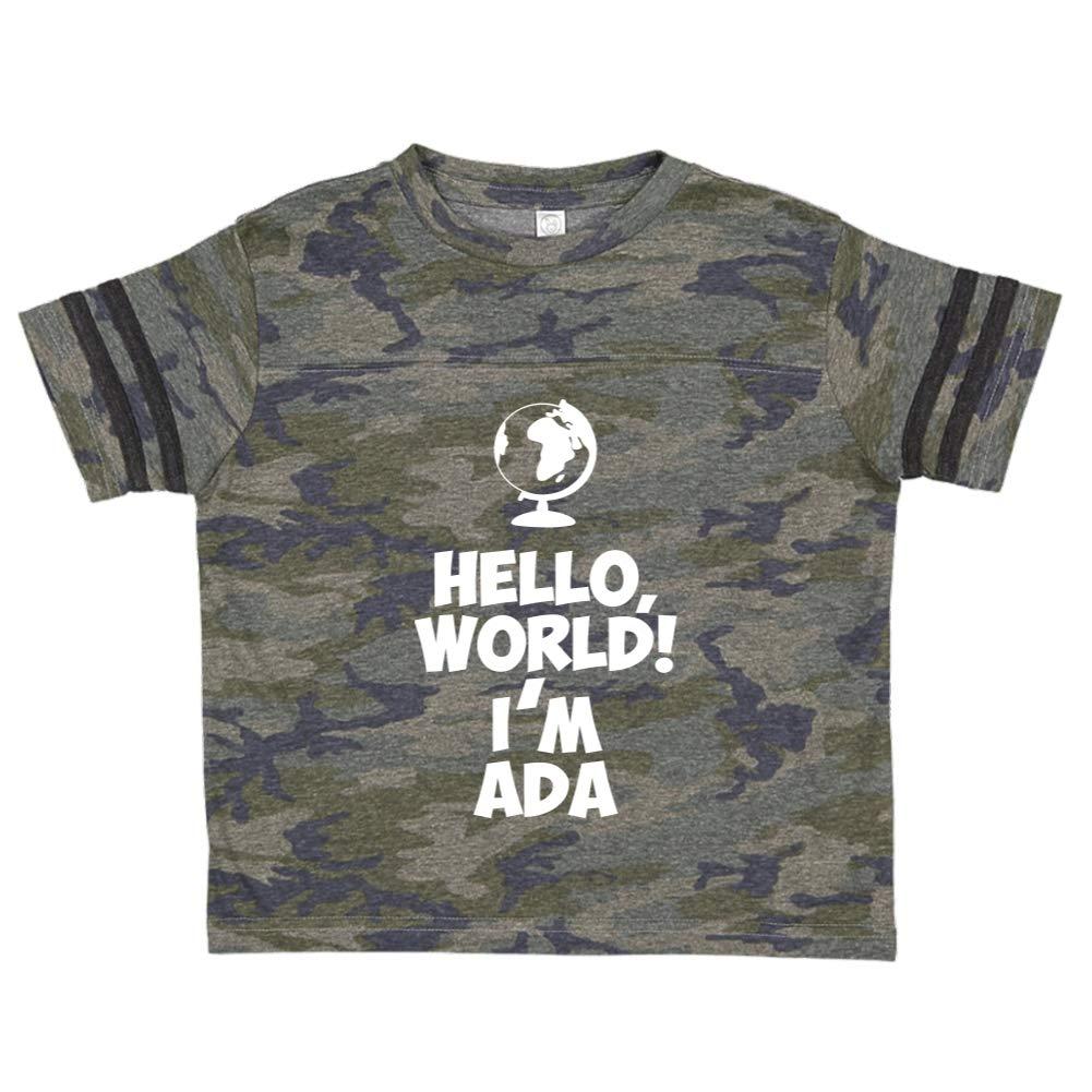 Im Ada Mashed Clothing Hello World Personalized Name Toddler//Kids Sporty T-Shirt