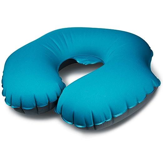 Muy suave almohada cervical hinchable, viajes cuello ...