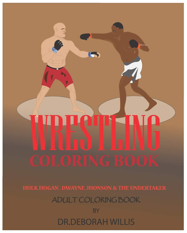 Wrestling Coloring Book Hulk Hogan Dwayne Johnson The