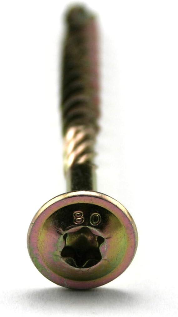 25, 8 x 240 mm PROFI Tellerkopfschrauben 8.0 Torx verzinkt Holzbauschrauben Konstruktionsschrauben Cut-Spitze