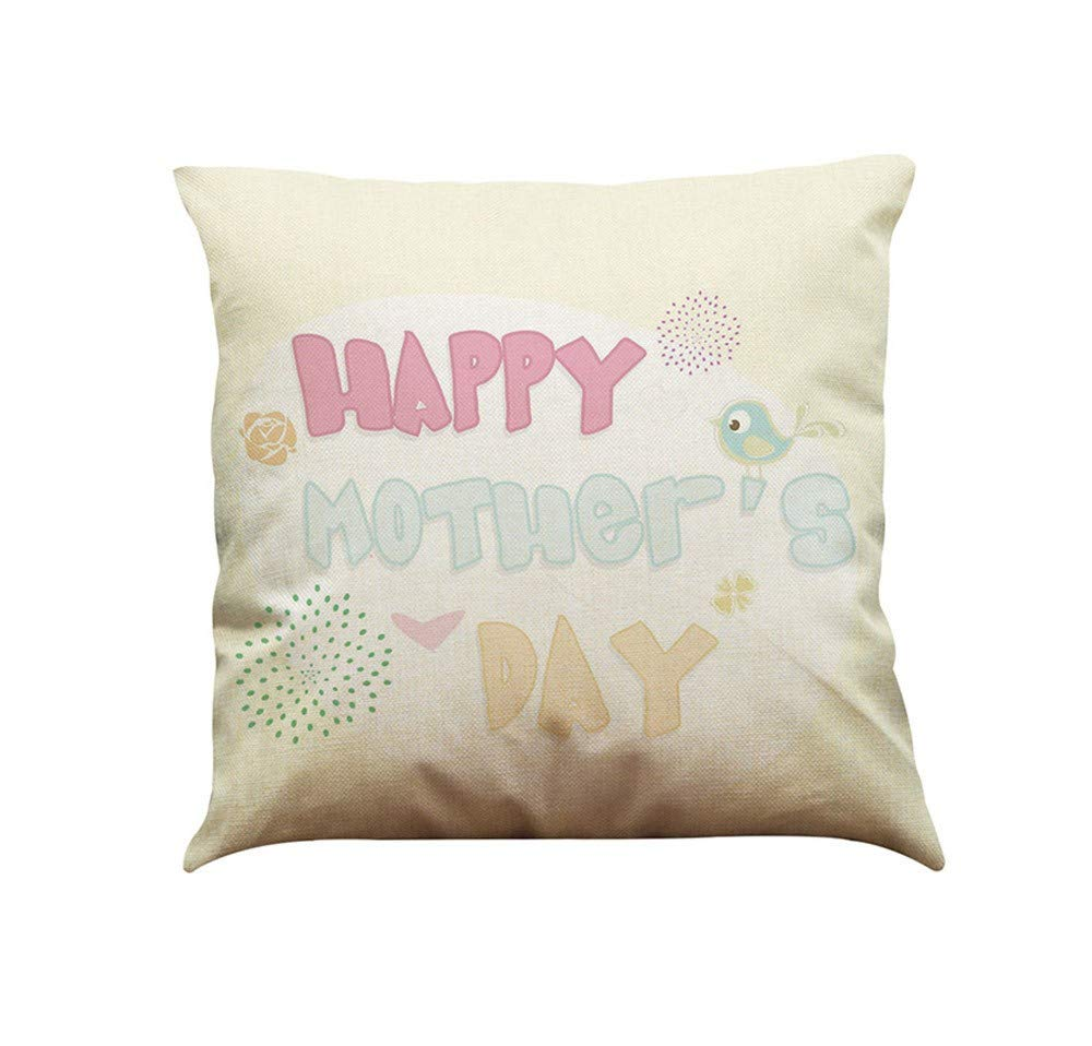 Pillow case Protector with Zipper,EOWEO I Love You Mom Sofa Bed Home Decoration Festival Pillow Case Cushion Cover(43cm×43cm,Multicolor-E)