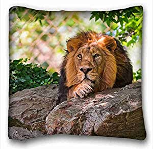 Soft Pillow Case Cover Animal Custom Cotton & Polyester Soft Rectangle Pillow Case Cover 16x16 inches (One Side) suitable for Twin-bed