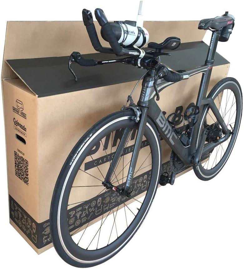 Caja de Cartón para Bicicletas. Tamaño 1440 x 255 x 940 mm. Canal Doble Alta Calidad y Resistencia. Transporte, Mudanza y Envíos. Fabricadas en España. Cajeando