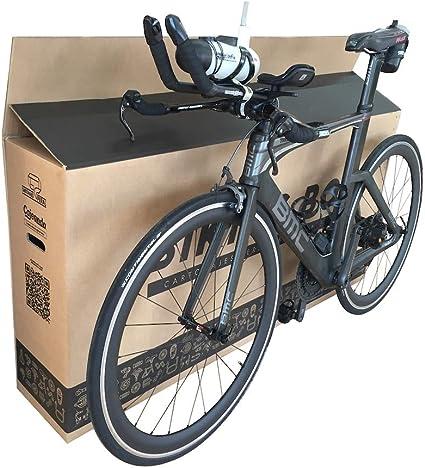 Cajeando | (1x) Caja de Cartón para Bicicletas | Tamaño 1440 x 255 x 710 mm | Canal Doble Alta Calidad y Resistencia | Transporte, Mudanza y Envíos | Fabricadas en España: Amazon.es: Oficina y papelería