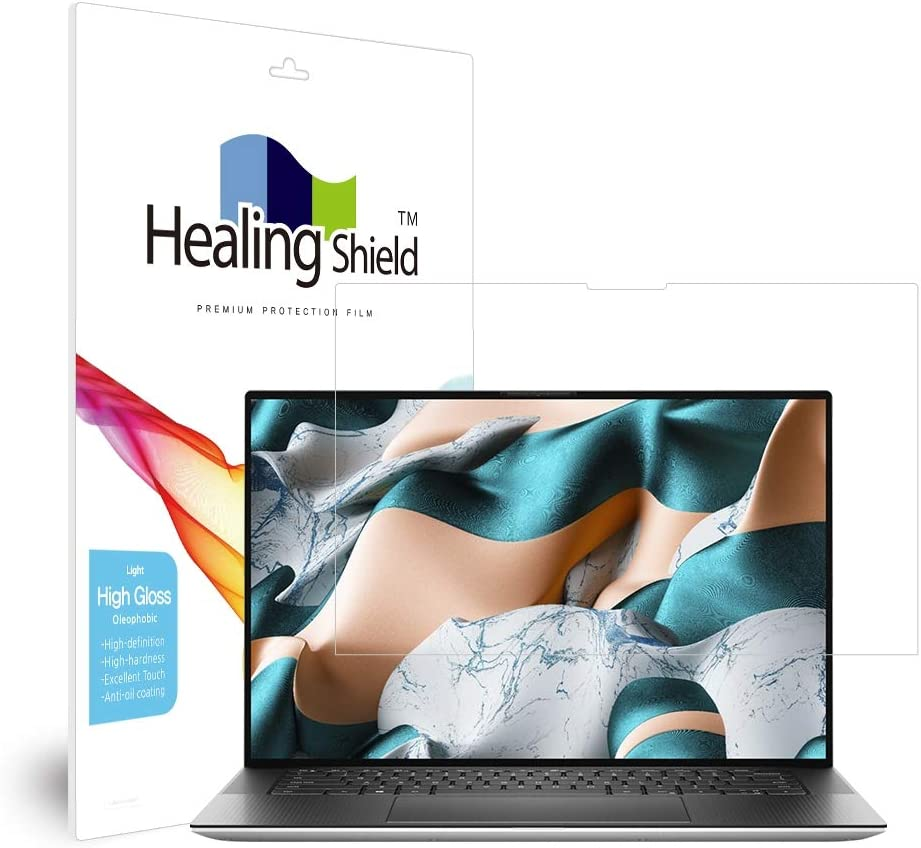 Screen Protector for Dell XPS 15 9500, Light Oleophobic Coating Screen Protector Clear LCD Guard Healing Shield Light Film