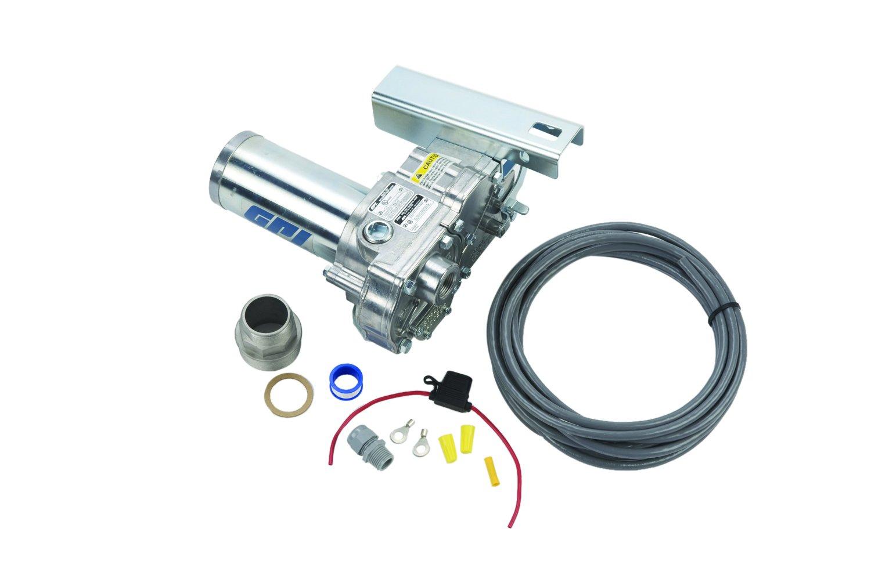 GPI 110000-200, M-150S-AV-PO Aluminum Aviation Fuel Transfer Pump, 15 GPM, 12-VDC, Spin Collar, 18-Foot Power Cord, Accessories Sold Separately