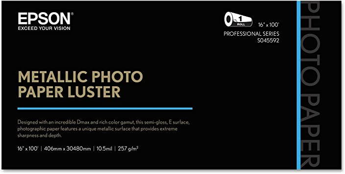 Epson S045589 Professional Series Metallic Photo Paper Glossy 25 Sheets 8.5x11 inch