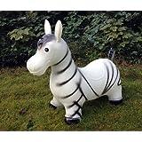 Zebra Hüpftier Hüpfpferd Hüpfesel in weiß
