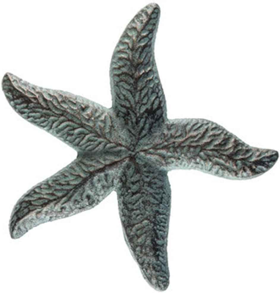 "Mission Gallery Heavy 8"" Antique Style Bronze Patina Cast Iron Starfish Home Wall Decor"