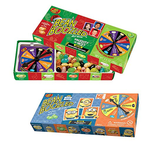(Set) Jelly Belly Minion Bean Boozled - Xmas Themed Naughty Or Nice Games