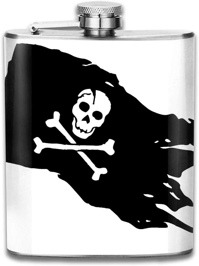 dfegyfr Beber Licor Frasco de Cadera Negro Pirata Bandera ...