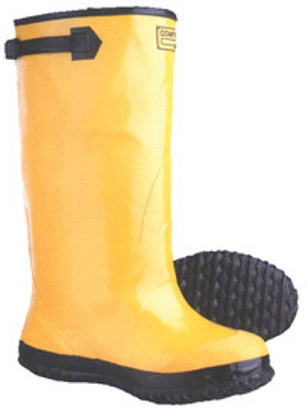 """17"""" Yellow Rubber Slush Work Boots, Over The Shoe (Size 12)"""