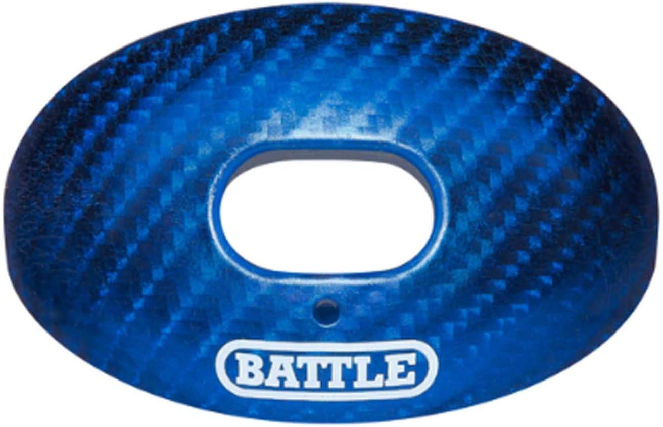 Battle Sports Carbon Chrome Oxygen Mouthguard, Blue