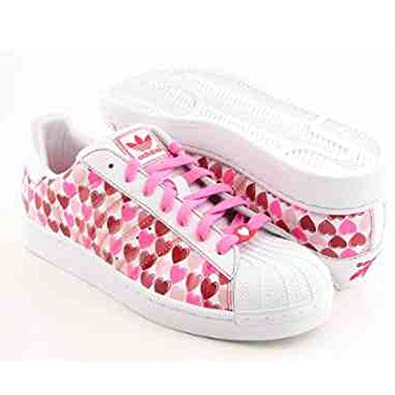 dfe8b03588c879 adidas Women S Superstar 2 Hearts Casual Shoe Pink