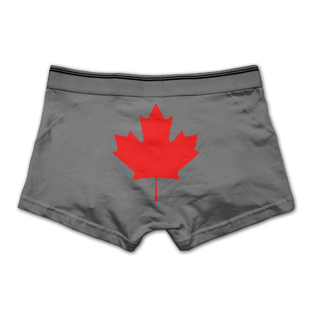Lively Strawberry Mens Canada Maple Leaf Canadian Flag Underwear Boxer Briefs
