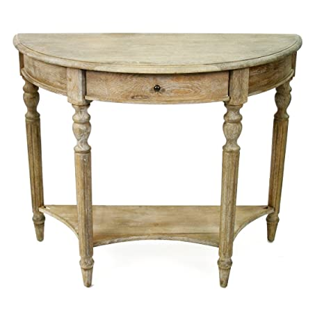 Bon Traditional French Country Style Demilune Console Table