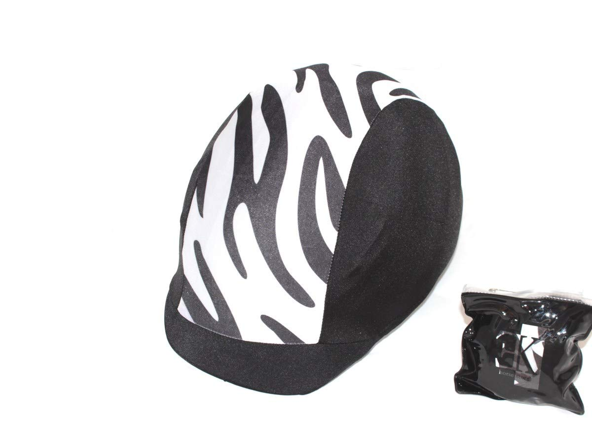 KLES Class Reithelm/überzug Design Sebra Equestrian Hat Cover.