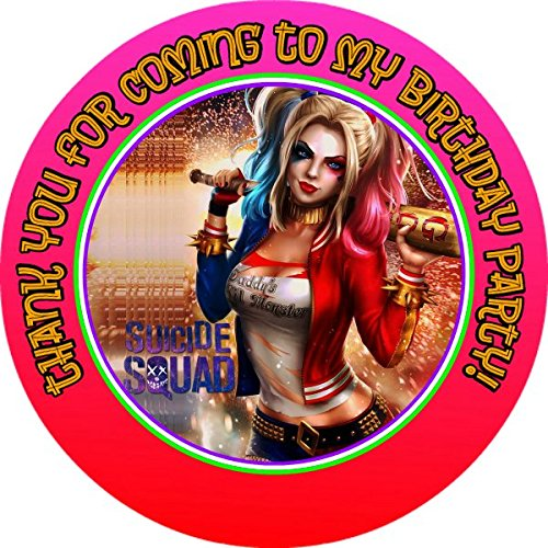 12 HARLEY QUINN Birthday Party Favor Stickers (Bags Not Included) #1 (Harley Quinn Party Favors)