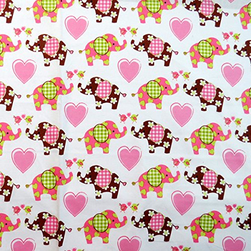 SheetWorld Fitted Pack N Play Sheet 29.5 x 42 - Elephant Love - Made In USA