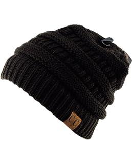 78dd6b51f02 Unisex Trendy Warm Chunky Soft Stretch Cable Knit Slouchy Beanie Skully  HAT20A
