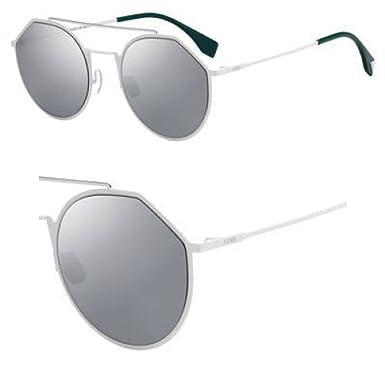 c7a5842383 Sunglasses Fendi Men Ff M 21 S 0VK6 White T4 black mirror lens ...