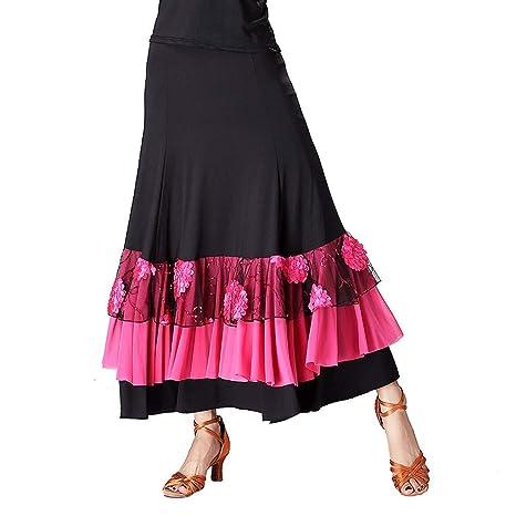 JTSYUXN Modernos Faldas De Baile Flamenco Tango Rendimiento Larga ...