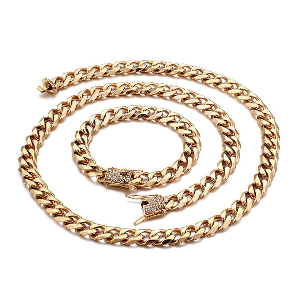 Amazon.com: W/W Lifetime - Cadena de oro de acero inoxidable ...