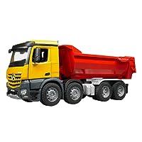 BRUDER - 03623 - Camion benne MB Arocs - Jaune Rouge
