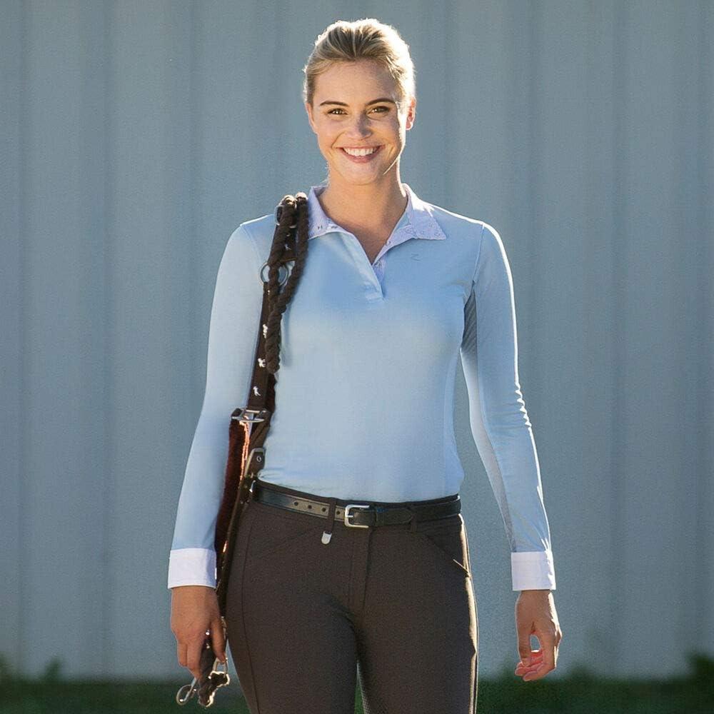 HORZE Polo Fonctionnel /à Manches Longues Blaire Femme