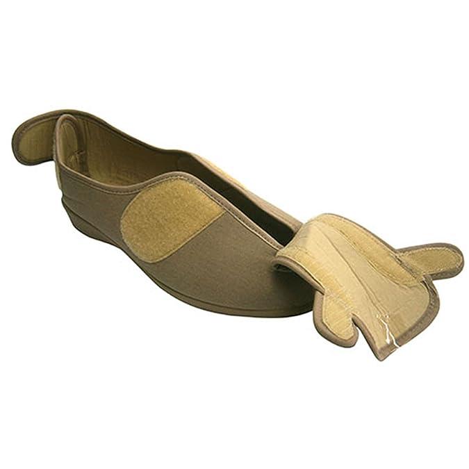 DOCTOR CUTILLAS Zapatilla Mujer Pies Muy Anchos con Velcro EN Talón y EN el Empeine EN Tostado Talla 42 2ql7pSJCWY