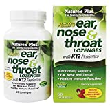 Nature's Plus, Adult's Ear, Nose & Throat Lozenges with K12 Probiotics, Tropical Cherry Berry, 60 Lozenges by Nature's Plus