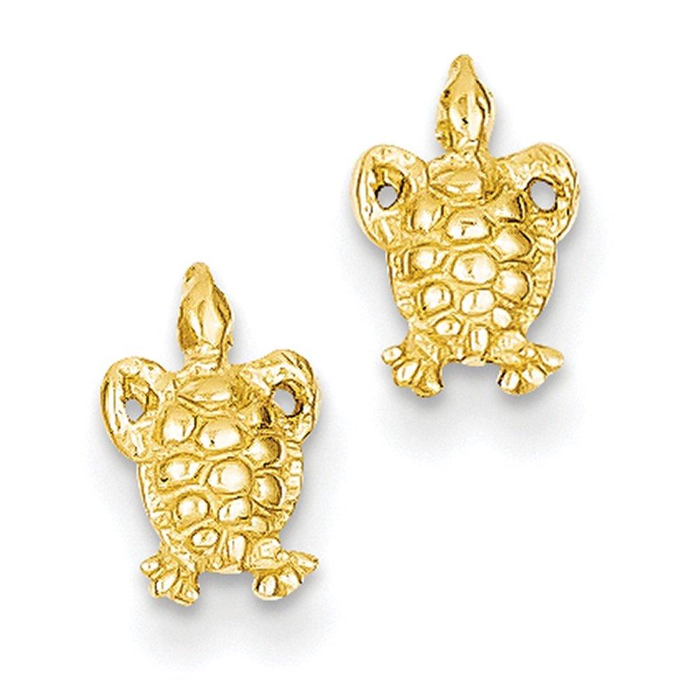 Lex /& Lu 14k Yellow Gold Mini Turtle Post Earrings