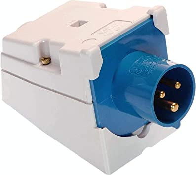 As Schwabe Cee Wall Plug Caravan 230 V 16 A Camping Socket 3 Pin Wall Socket For Motorhome And Caravan Ideal For Outdoor Use Ip44 Made In Germany Blue I 60473 Baumarkt