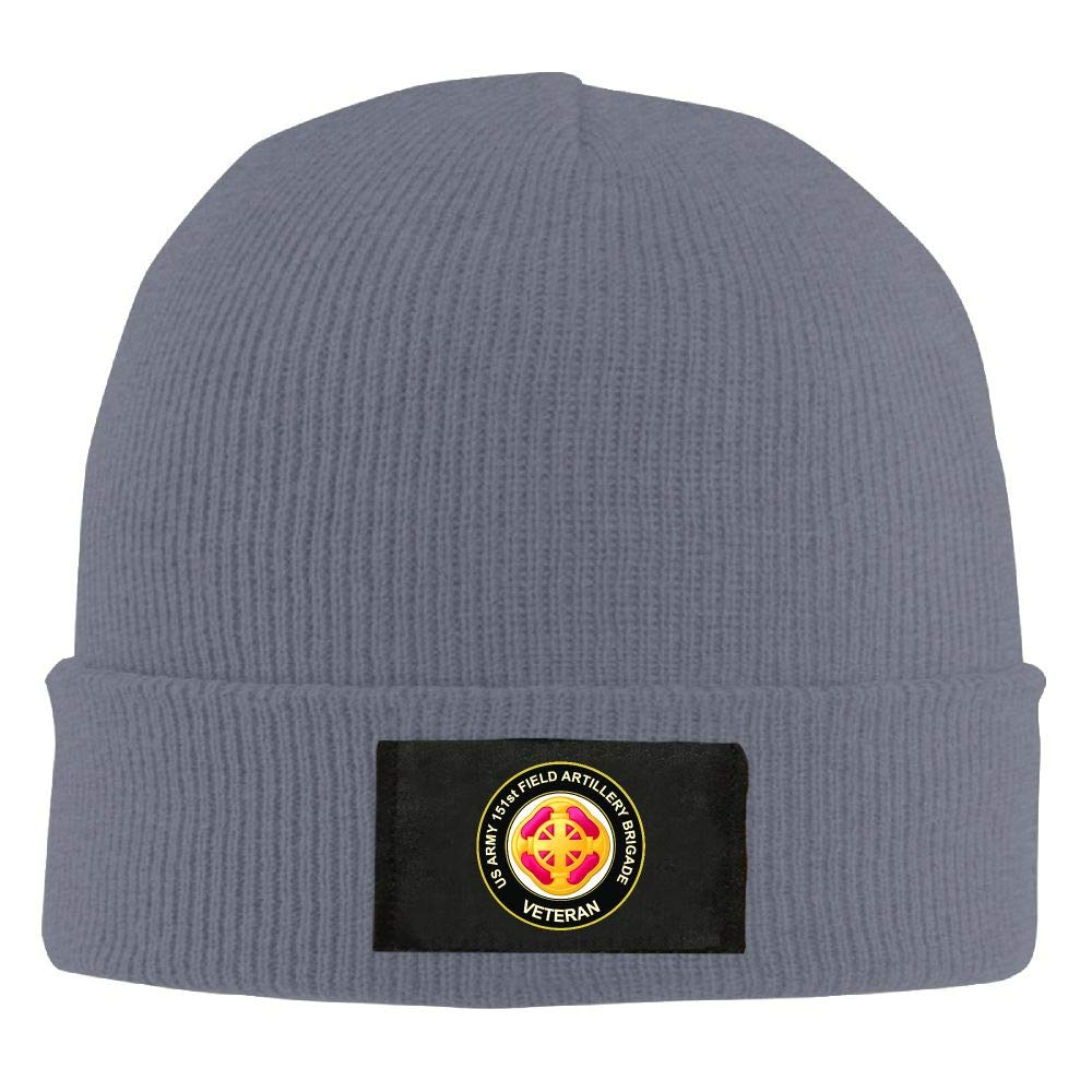 FORDSAN CP US Army 151st Field Artillery Brigade Veteran Mens Beanie Cap Skull Cap Winter Warm Knitting Hats