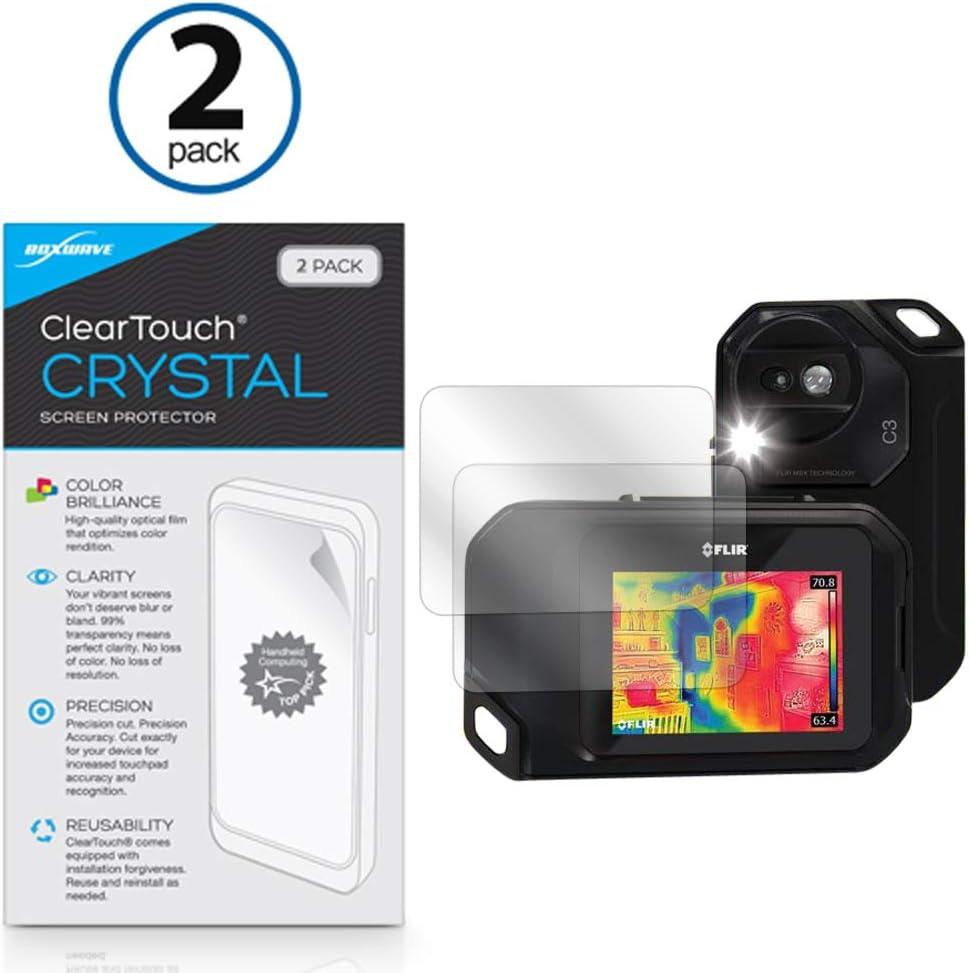 Shields from Scratches for Seek Thermal Seek Shot ClearTouch Crystal BoxWave HD Film Skin 2-Pack Seek Thermal Seek Shot Screen Protector