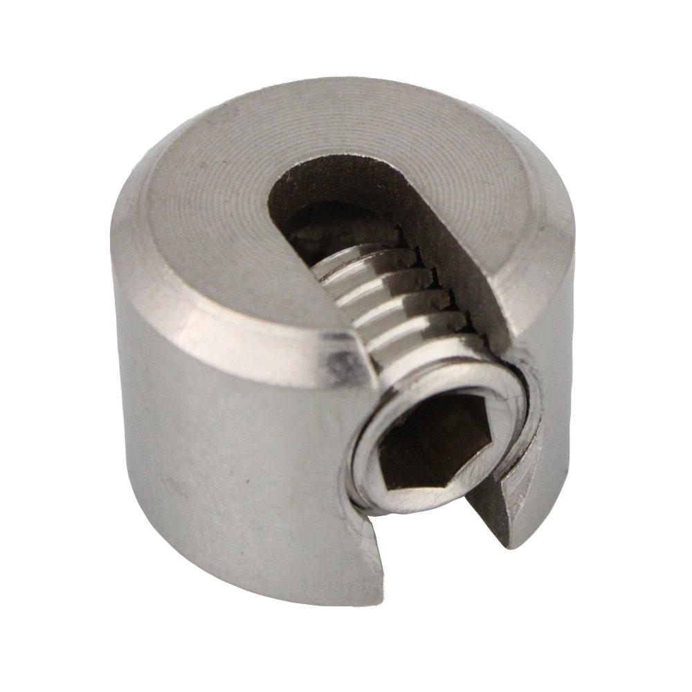 10 Stück Klemmstopper 1-teilig DS= 6 mm M10 - Edelstahl A4 - AISI 316 JXly2JKi