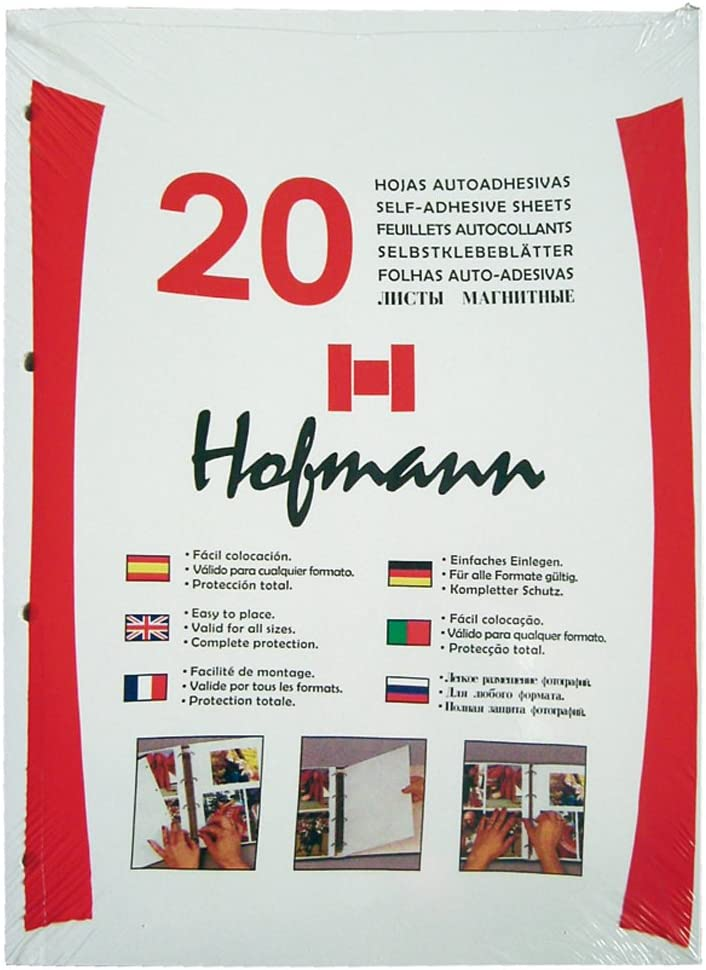 HOFMANN 9620 Paquete de 20 Hojas Autoadhesivas