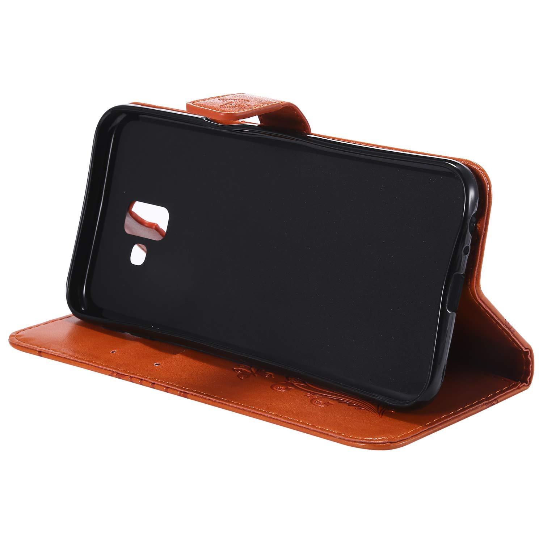 H/ülle Leder NEKTU13935 Rot Handyh/ülle Tasche Leder Flip Case Brieftasche Etui mit Kartenfach Sto/ßfest Kratzfest Schutzh/ülle f/ür Samsung Galaxy J6 Plus J6Plus NEXCURIO Samsung Galaxy J6+